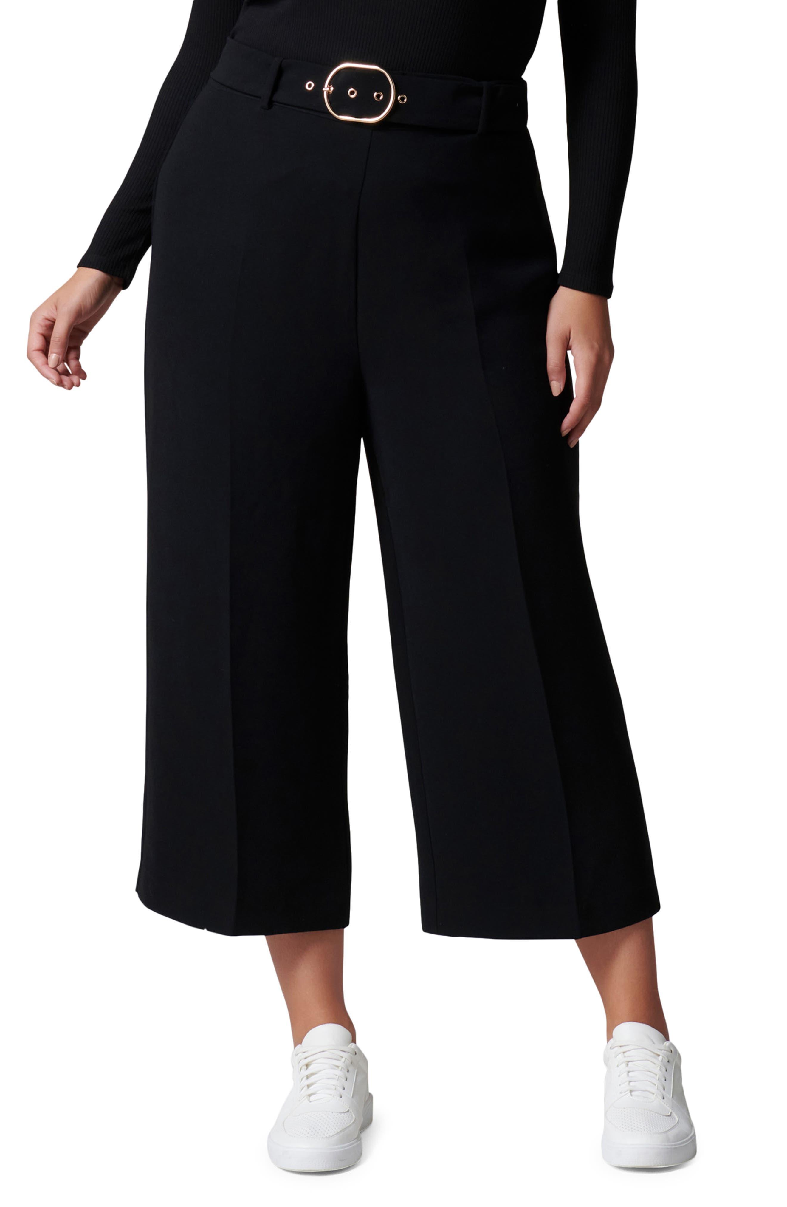 Nadine Belted Wide Leg Crop Pants