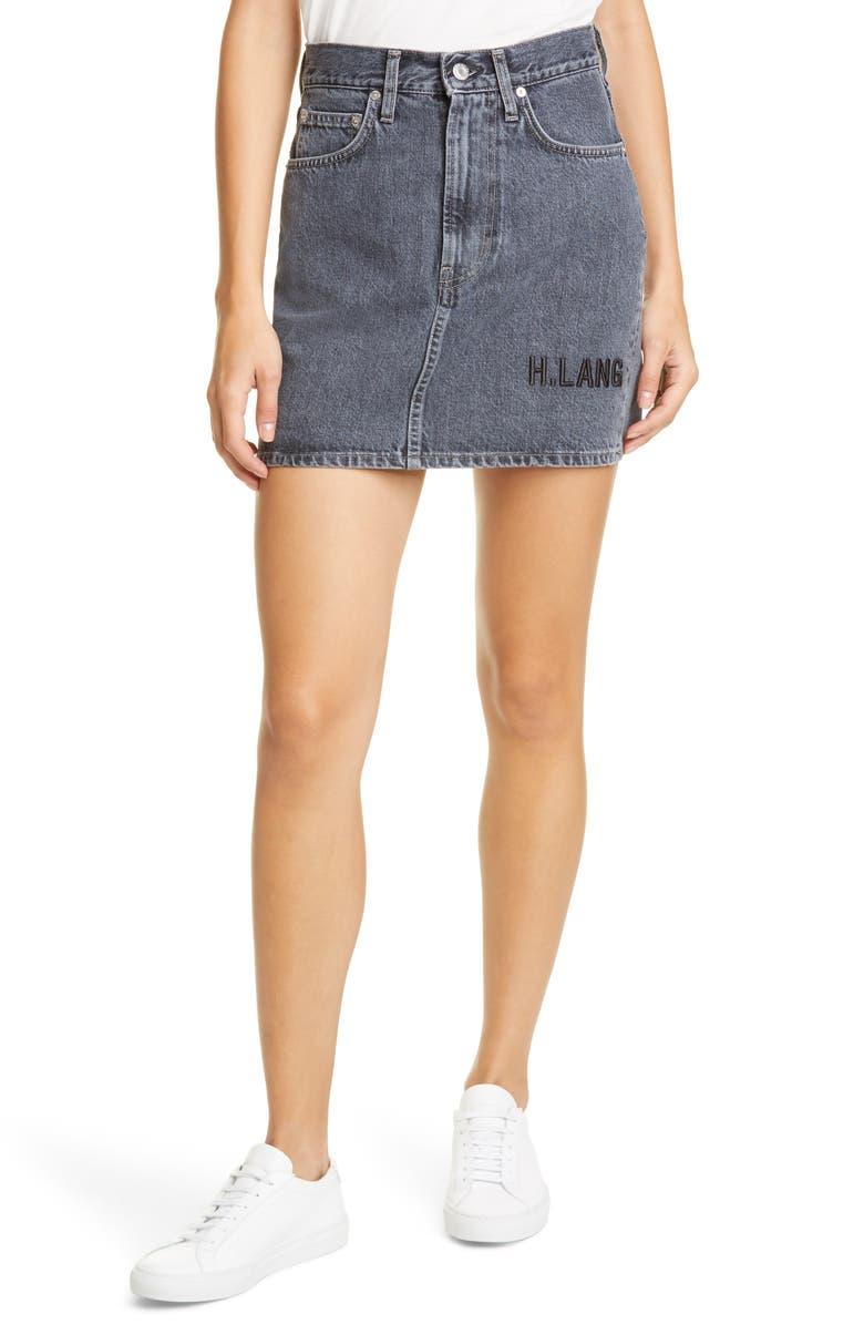 HELMUT LANG Femme Utility Denim Miniskirt, Main, color, 497