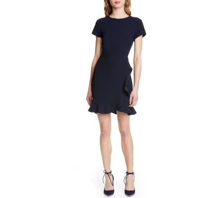 Club Monaco Larna Ruffle Sheath Dress, Blue