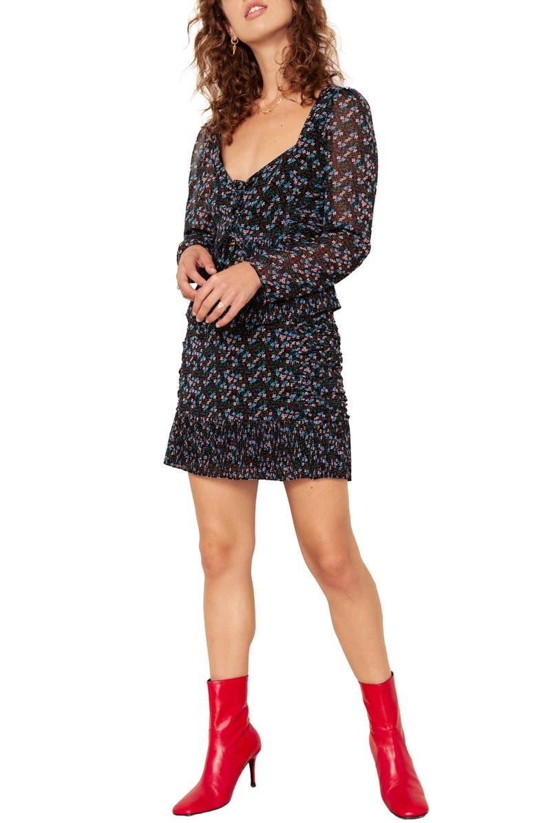 THE EAST ORDER Nilaya Miniskirt, Main, color, SECRET GARDEN
