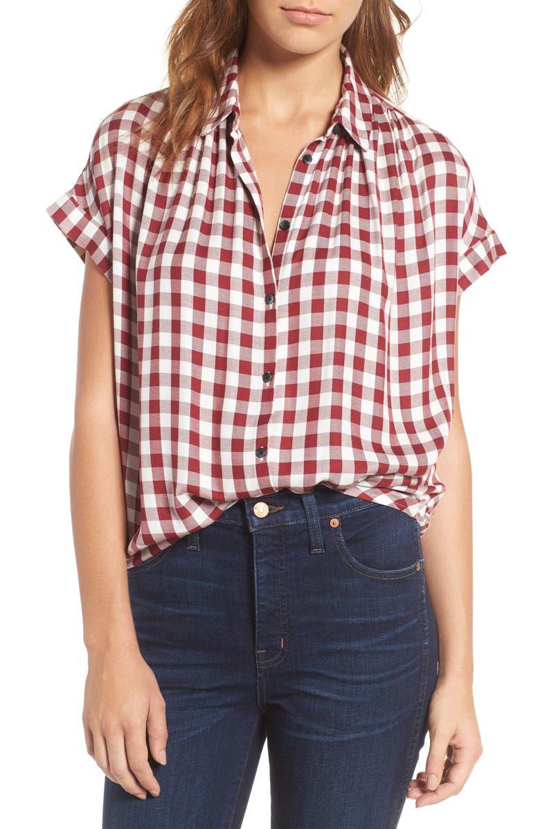 MADEWELL Plaid Courier Shirt, Main, color, 601