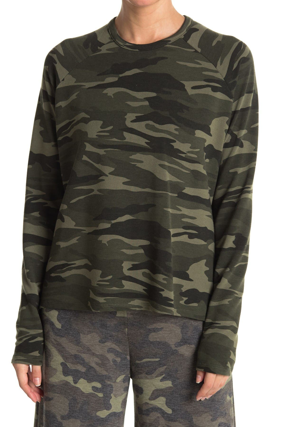 Image of Theo and Spence Camo Long Sleeve Sweater