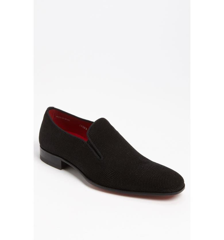 MEZLAN 'Crespi' Slip-On, Main, color, BLACK