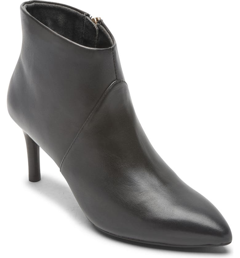 ROCKPORT Total Motion Ariahnna Bootie, Main, color, BLACK LEATHER