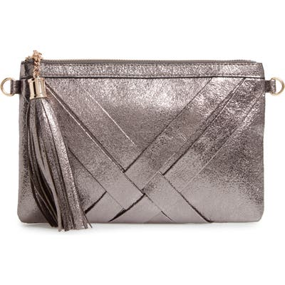 Malibu Skye Metallic Woven Faux Leather Shoulder Bag - Metallic