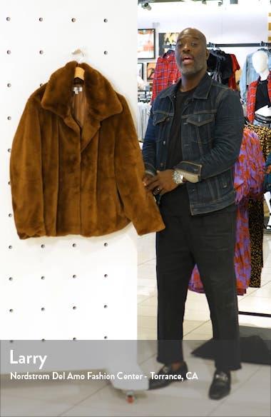 Short Faux Fur Jacket, sales video thumbnail