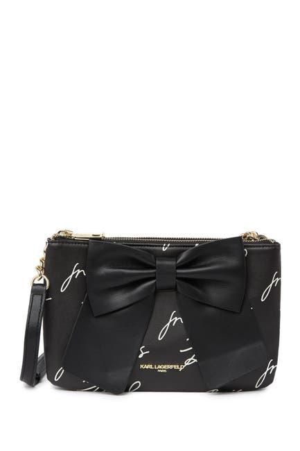 Image of Karl Lagerfeld Paris Kris Bow Printed Crossbody Bag