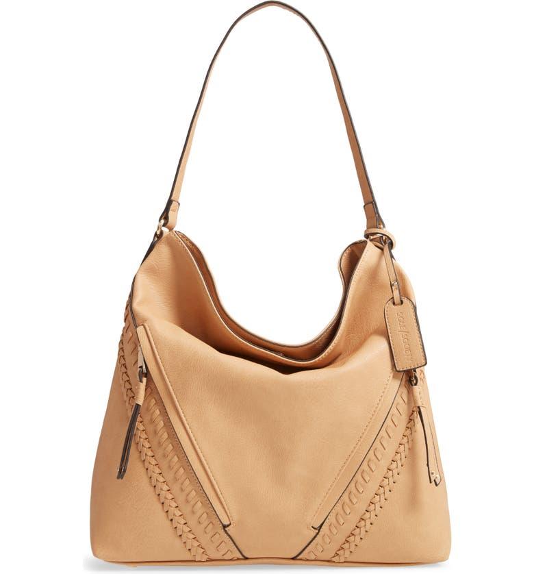 SOLE SOCIETY Destin 2 Faux Leather Hobo Bag, Main, color, 201