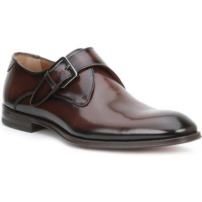 Bruno Magli Lucio Monk Strap Shoe, Brown