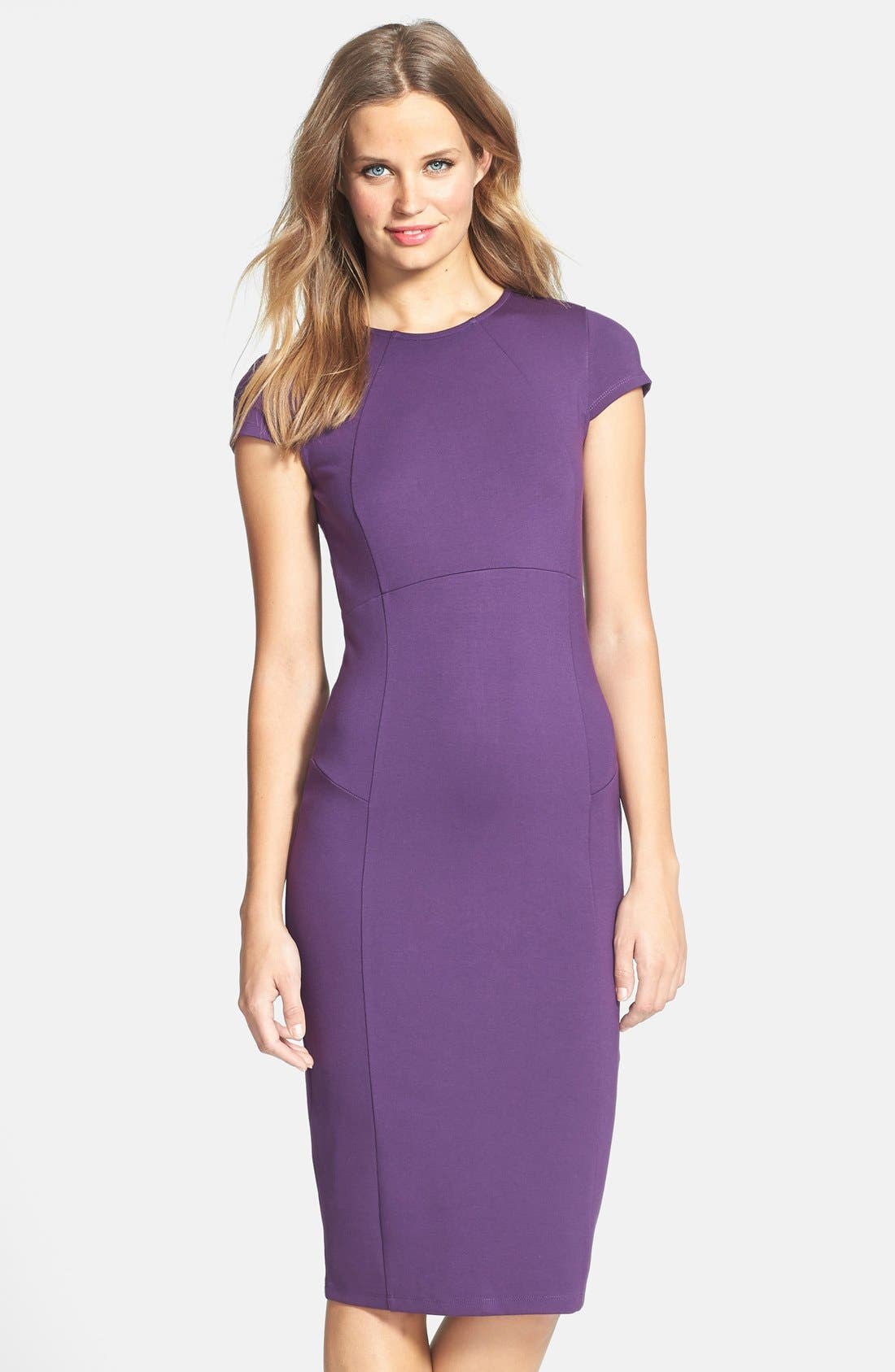 ,                             Ward Seamed Pencil Dress,                             Main thumbnail 41, color,                             500