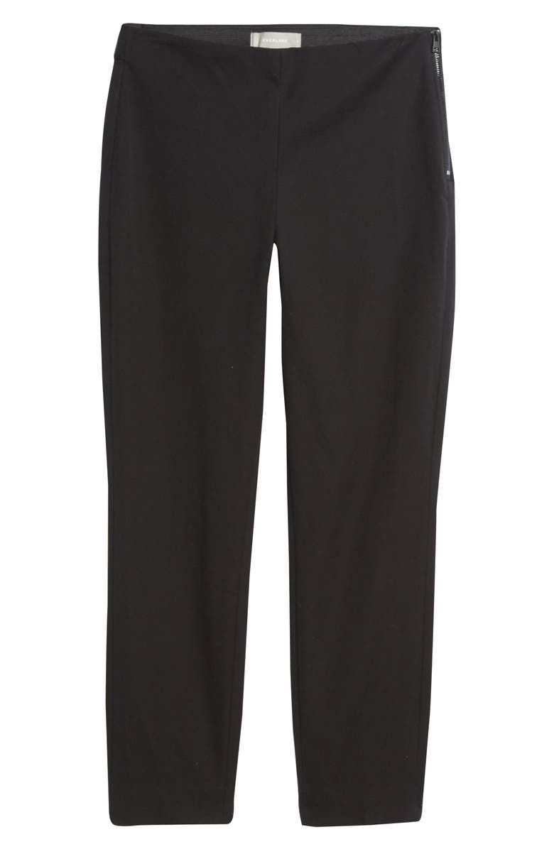 EVERLANE The Side Zip Work Pants, Main, color, BLACK