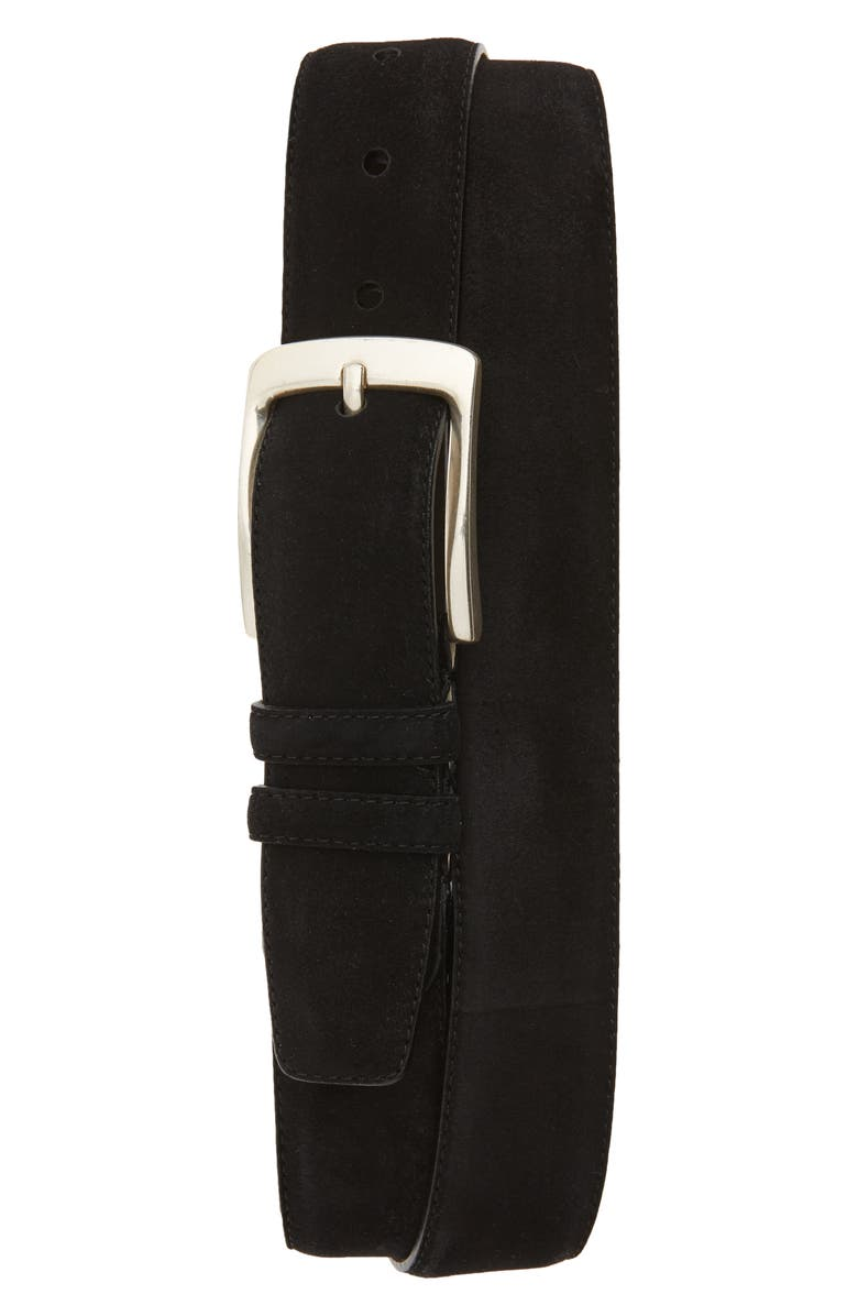 MEZLAN Suede Belt, Main, color, BLACK
