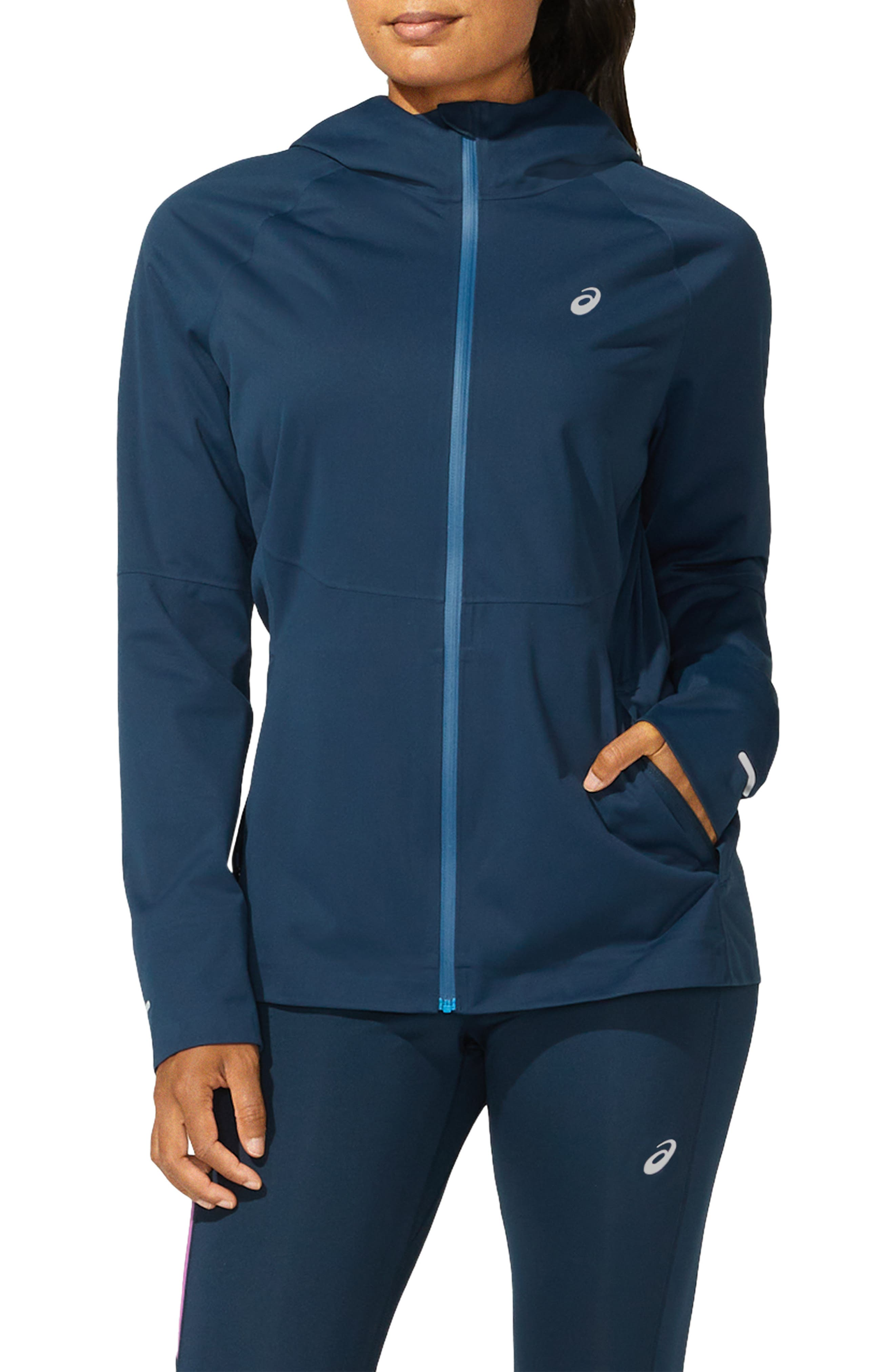 Women's Asics Accelerate Water Resistant Hooded Jacket