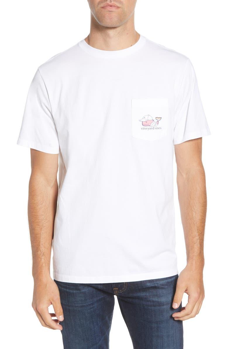 VINEYARD VINES Tennis Pro Whale Pocket T-Shirt, Main, color, WHITE CAP