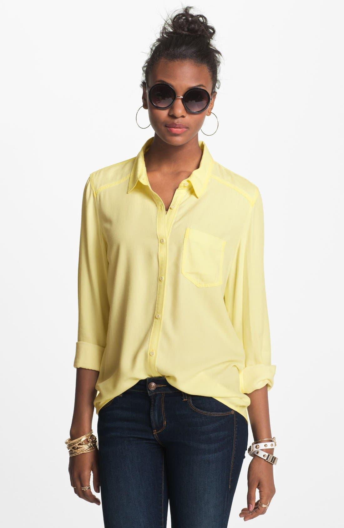 ,                             Rubbish Oversized Menswear Shirt,                             Main thumbnail 25, color,                             740