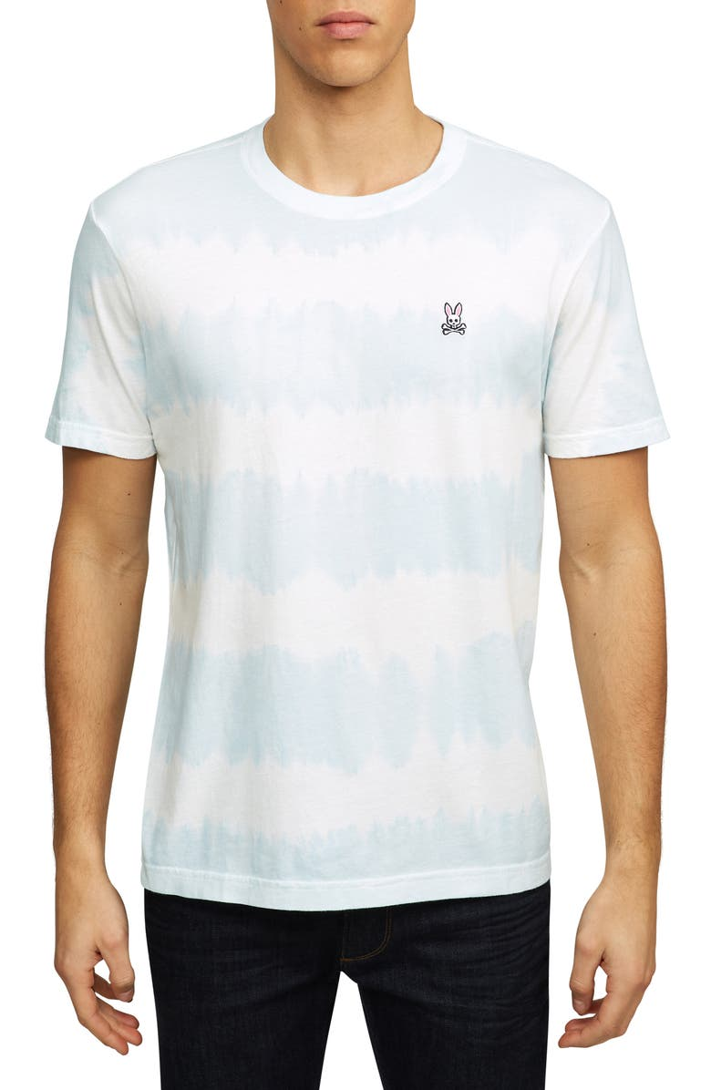PSYCHO BUNNY Tenby Tie Dye T-Shirt, Main, color, 497 FORGETMENOT