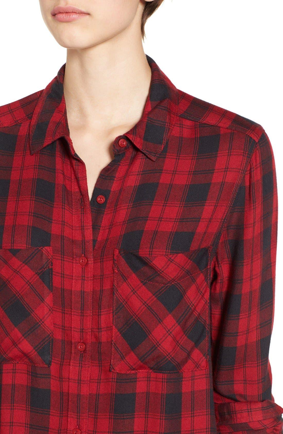 ,                             Plaid Tunic Shirt,                             Alternate thumbnail 40, color,                             610