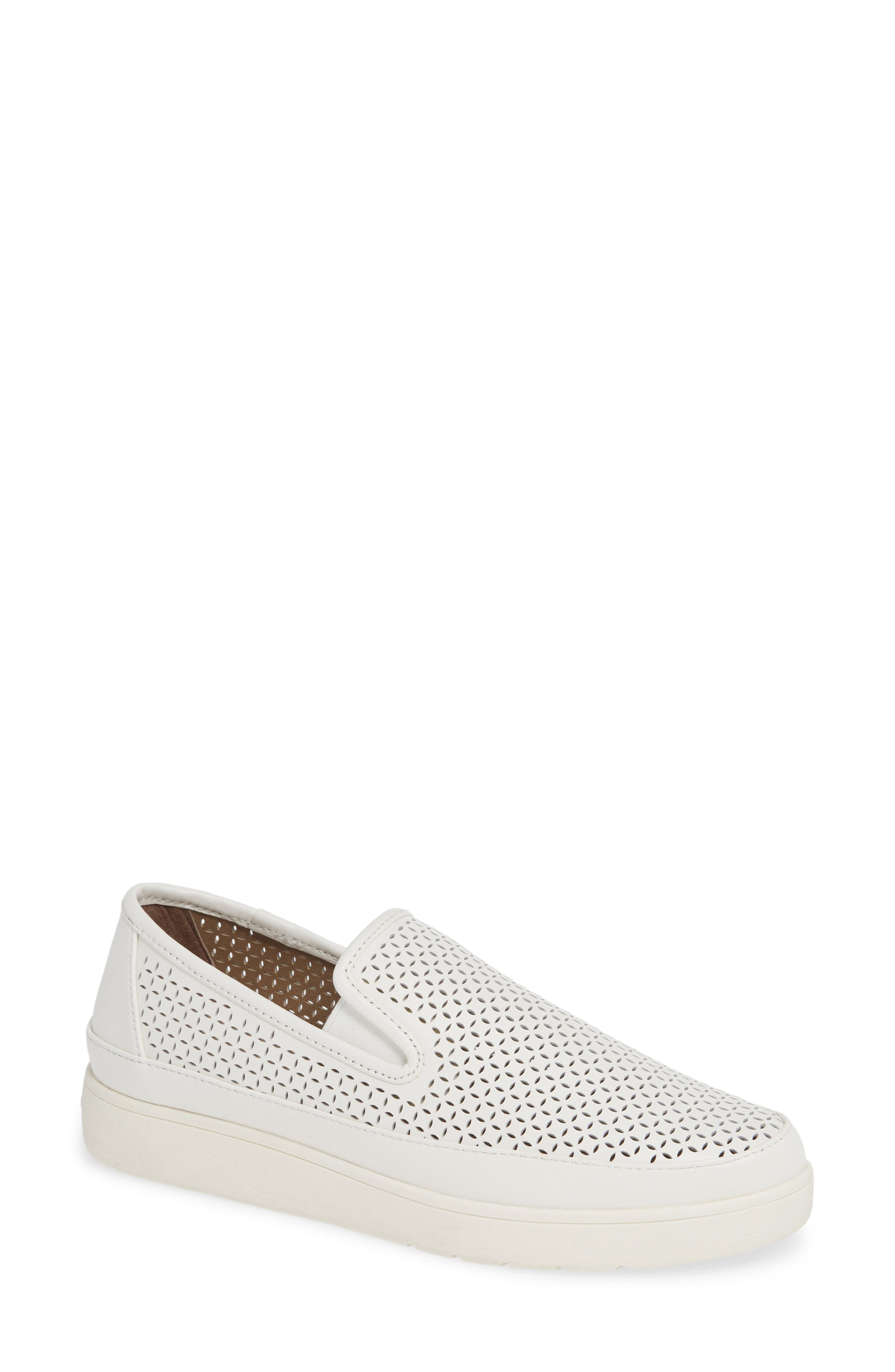 Maddox Perforated Slip-On Sneaker, Main, color, 100