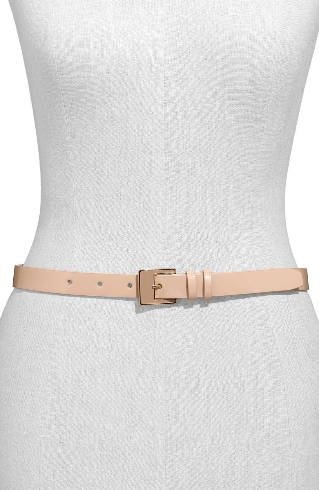 ,                             Patent Leather Belt,                             Main thumbnail 3, color,                             200