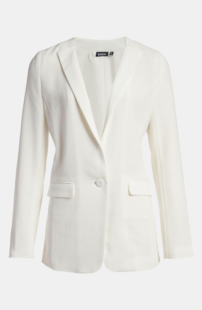 TILDON Turnback Collar Blazer, Main, color, 100