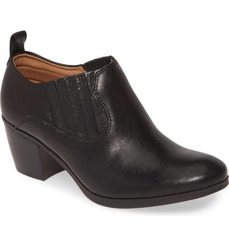 COMFORTIVA Arnette Bootie, Main, color, BLACK LEATHER