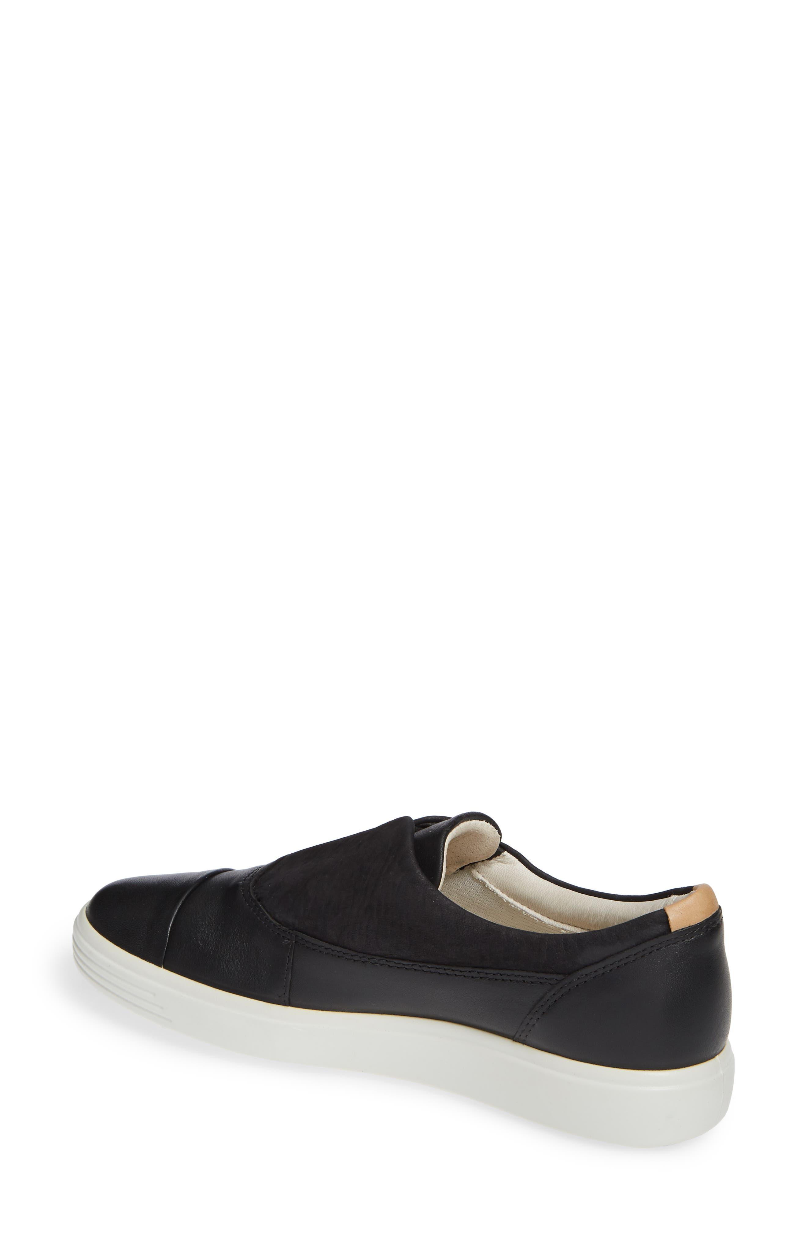 ,                             Soft 7 II Slip-On Sneaker,                             Alternate thumbnail 2, color,                             BLACK LEATHER