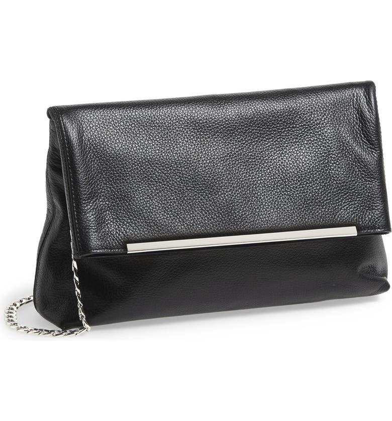 HALOGEN<SUP>®</SUP> Foldover Crossbody Bag, Main, color, Black