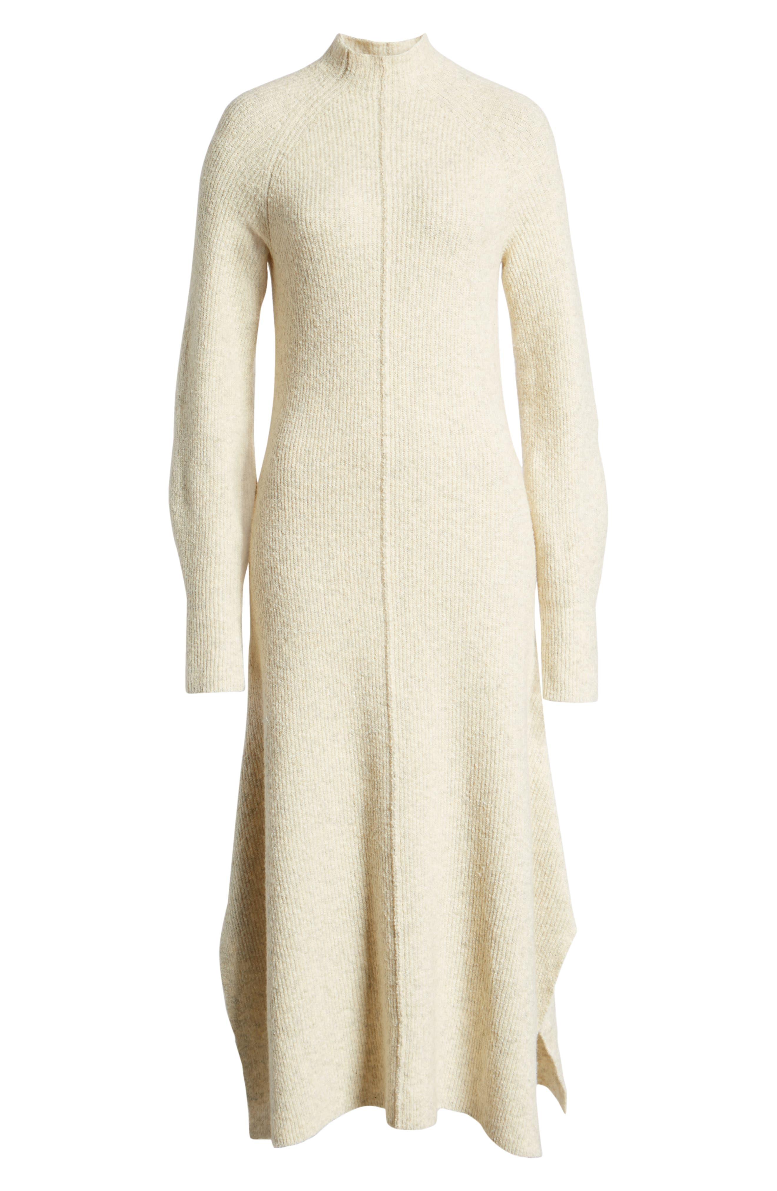 ,                             Mock Neck Maxi Sweater Dress,                             Alternate thumbnail 6, color,                             260