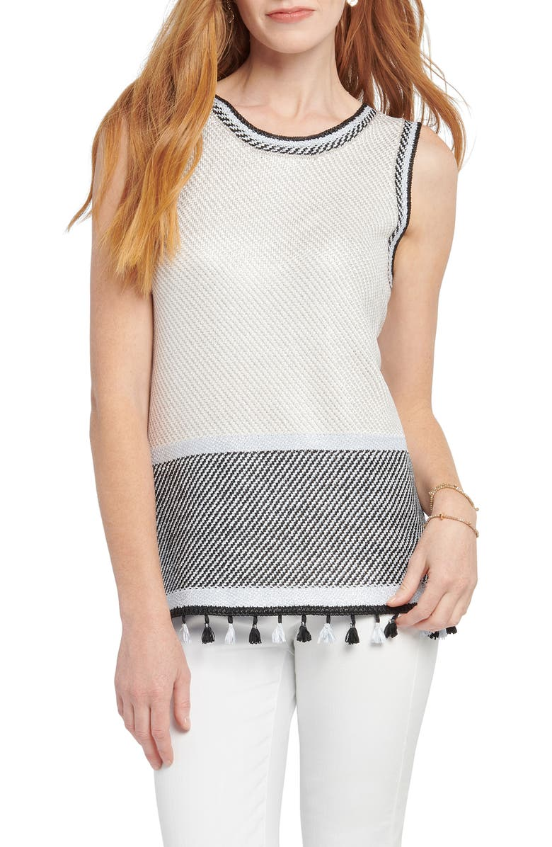 NIC+ZOE Lantana Sweater Tank, Main, color, NEUTRAL MULTI