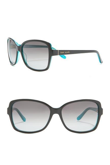 Image of kate spade new york aileys 58mm rectangular sunglasses