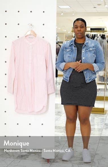 Fine Stripe Popover Shirtdress, sales video thumbnail