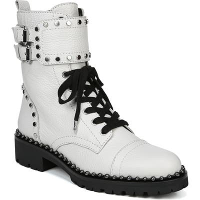 Sam Edelman Jennifer Studded Combat Boot, White