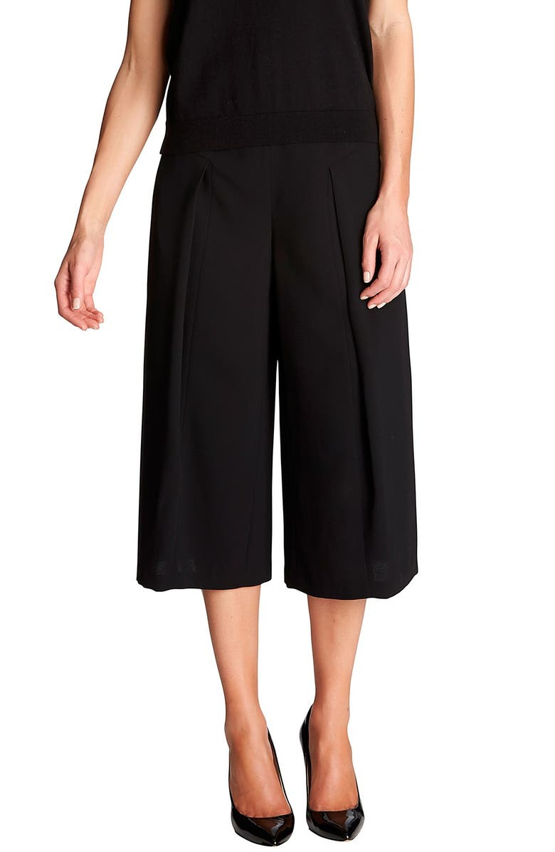 CECE by Cynthia Steffe Pleat Front Culottes, Main, color, 001
