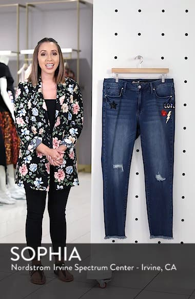 Slim Straight Raw Hem Jeans, sales video thumbnail