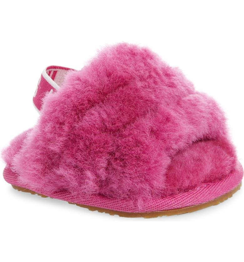 UGG<SUP>®</SUP> Fluff Yeah Genuine Shearling Slide Sandal, Main, color, 670