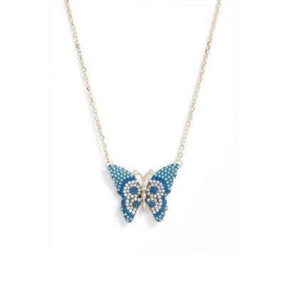 Knotty Butterfly Pendant Necklace