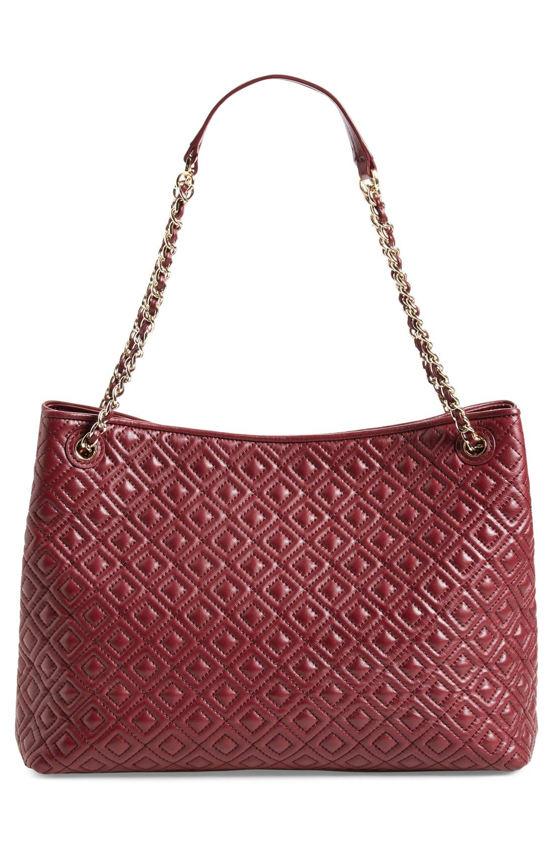 ,                             'Marion' Diamond Quilted Leather Tote,                             Alternate thumbnail 15, color,                             600