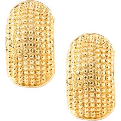 Erwin Pearl Goldtone To Silvertone Reversible Earrings