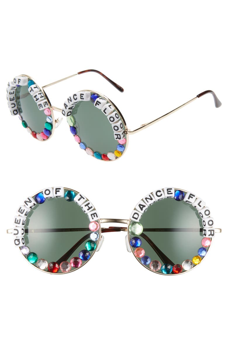 RAD + REFINED Queen Of The Dance Floor Round Sunglasses, Main, color, 710