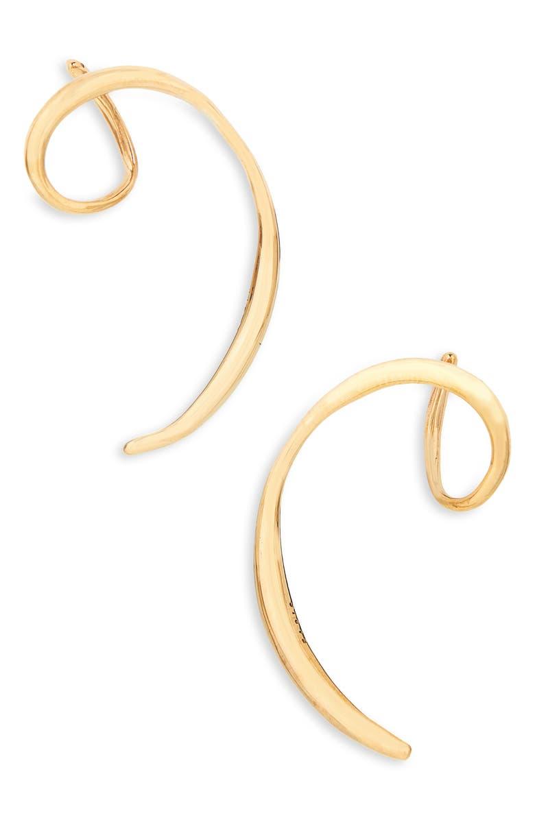 FARIS Vinea Earrings, Main, color, BRONZE