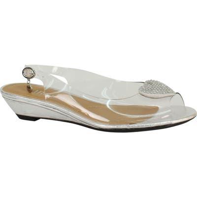 J. Renee Bevelyn Slingback Sandal, White