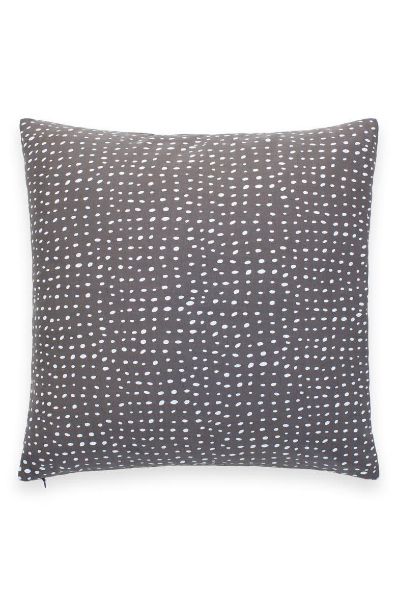 KATE SPADE NEW YORK dot spot accent pillow, Main, color, GREY