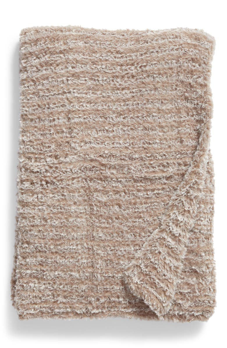 NORDSTROM Lazy Days Faux Fur Throw Blanket, Main, color, TAN GREIGE