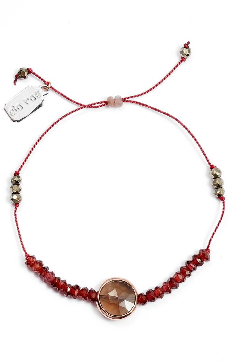 ELA RAE Sylvie Semiprecious Stone Bracelet, Main, color, RED