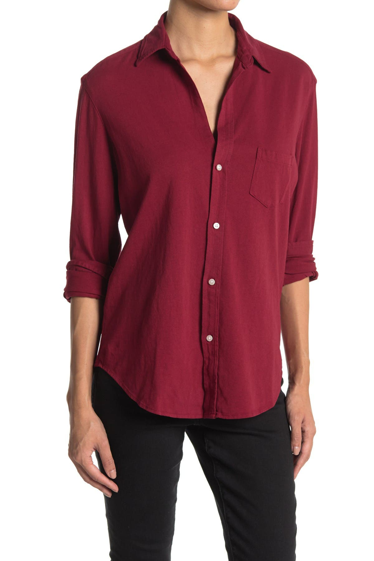 Image of FRANK & EILEEN Eileen Fit Solid Knit Shirt