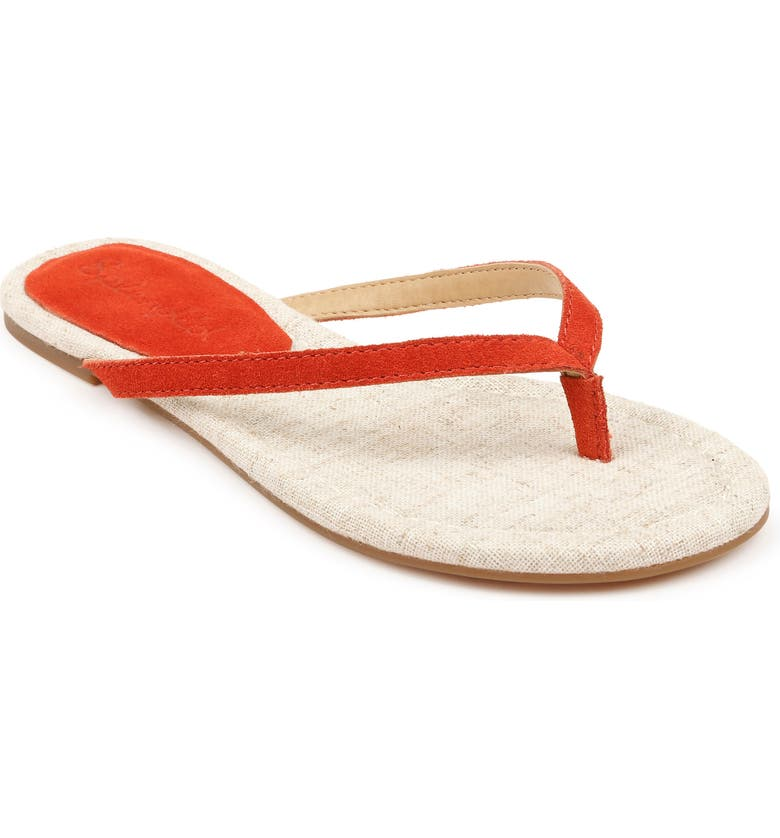 SPLENDID Ashlee Flip Flop, Main, color, POPPY SUEDE