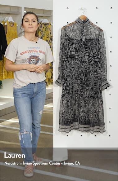 Libby Polka Dot Silk Midi Dress, sales video thumbnail