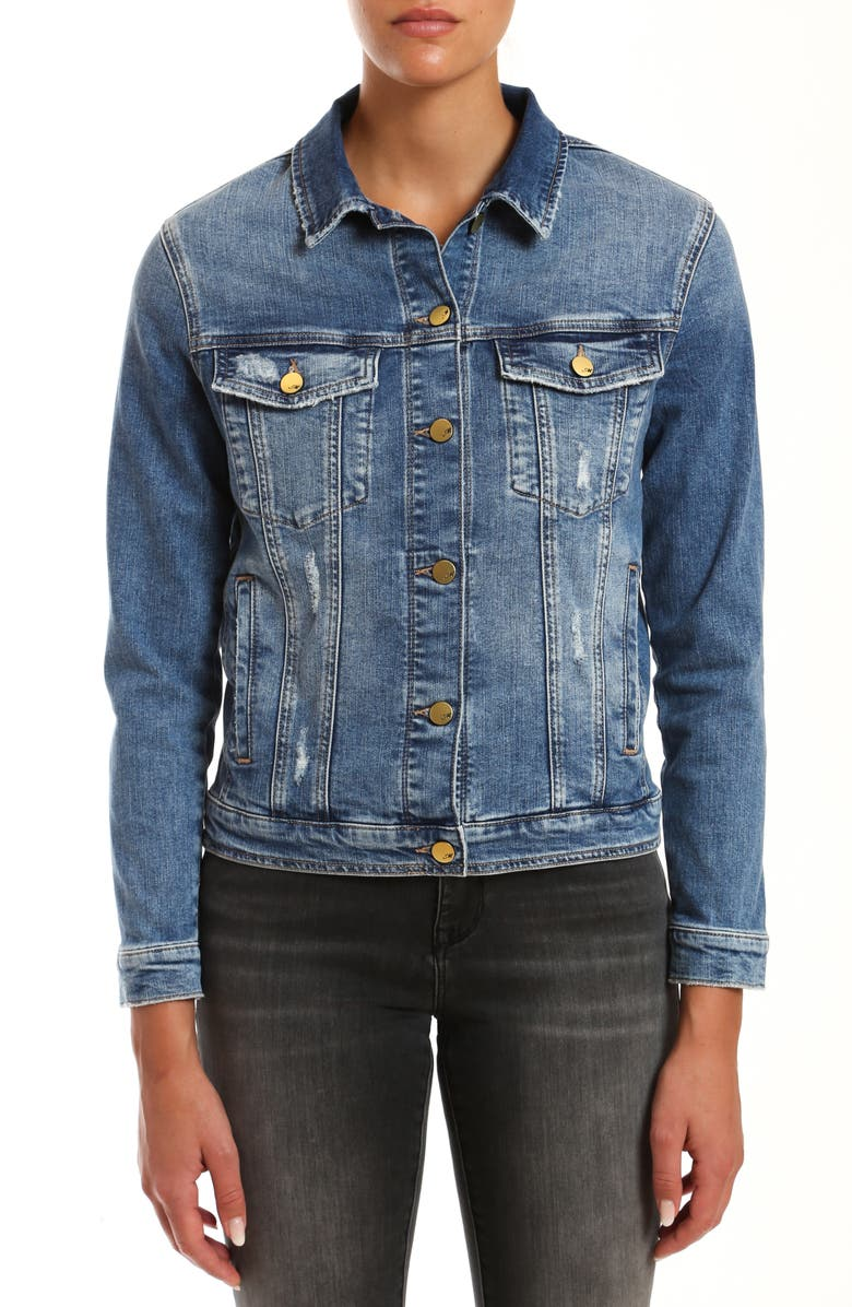 MAVI JEANS Katy Distressed Denim Jacket, Main, color, 420