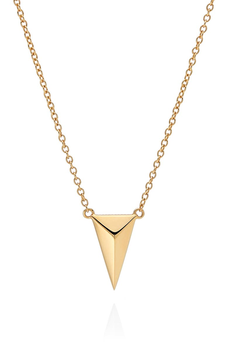 ANNA BECK Reversible Raised Dot Arrow Necklace, Main, color, GOLD