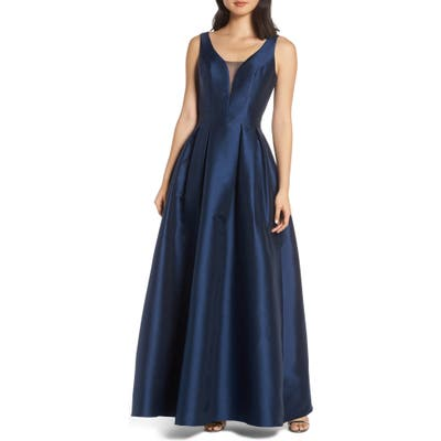 Chi Chi London Perla Back Cutout Evening Dress, Blue
